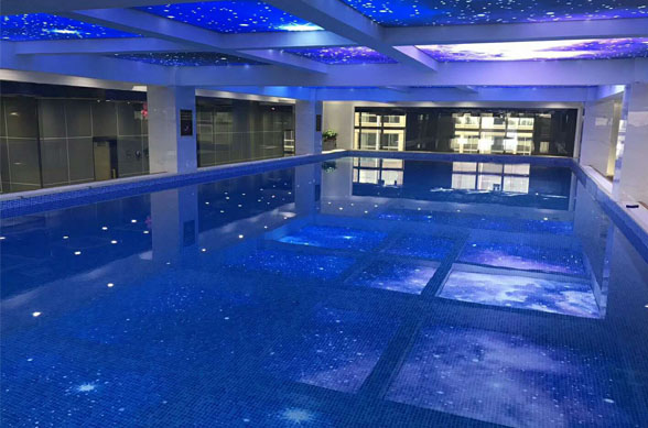 An assembly pool at the elite fitness club